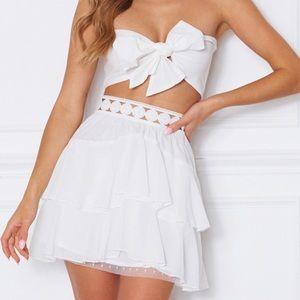 Adorable White Fox Boutique Set